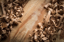 Wood Shavings Background