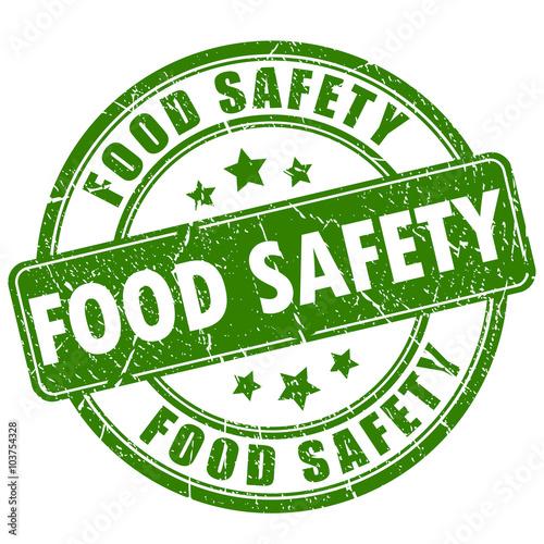 Fototapeta Food safety rubber stamp obraz na płótnie