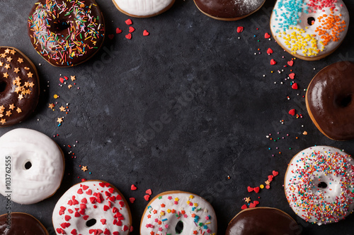 Canvas Print Colorful donuts