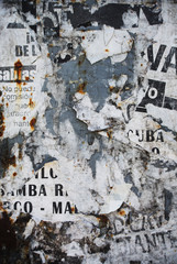 Fototapeta Abstrakcja Random background collage paper typography texture on wall