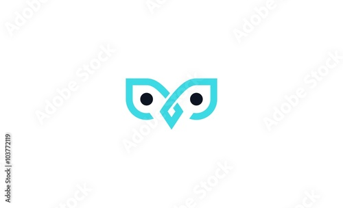 Canvas Prints Owls cartoon owl abstrack icon vector logo