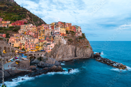 Photo  Manorola village in Cinque Terre, Italy