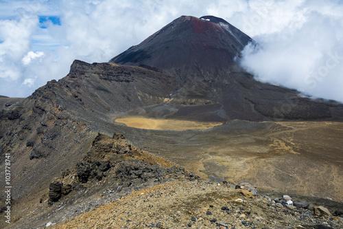 Photo  View of Mount Ngauruhoe (a
