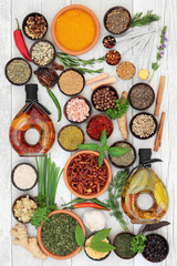 FototapetaHerb and Spice Selection