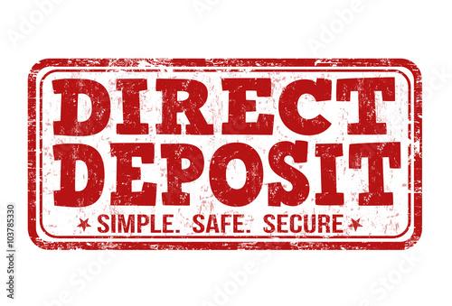 Fototapeta Direct deposit stamp obraz