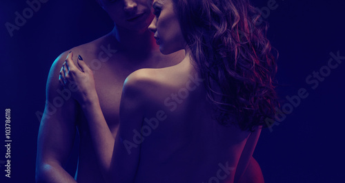 Acrylic Prints Artist KB Romantic scene of two attractive lovers