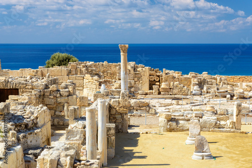 Fotobehang Cyprus Old greek ruins city of Kourion near Limassol, Cyprus