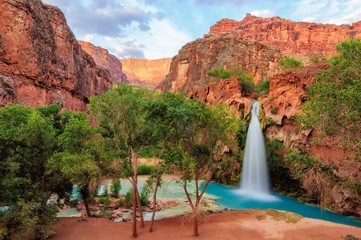 FototapetaHavasu Falls, waterfalls in the Grand Canyon, Arizona