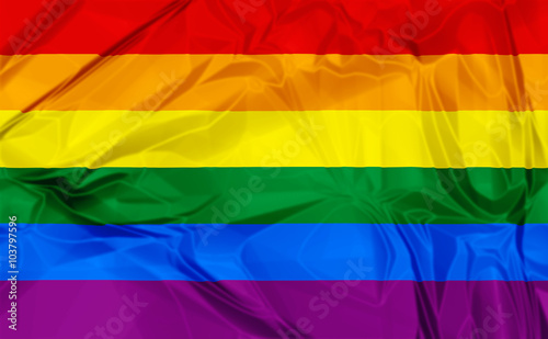 Gay Pride Rainbow Flag фототапет