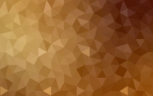 Dark Brown Polygonal Design Pattern, Which Consist Of Triangles And Gradient In Origami Style.