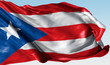 Realistic waving national flag for Puerto Rico