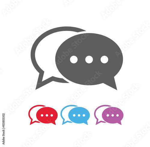 Fotografiet Dialog bubbles icon, vector eps10 illustration