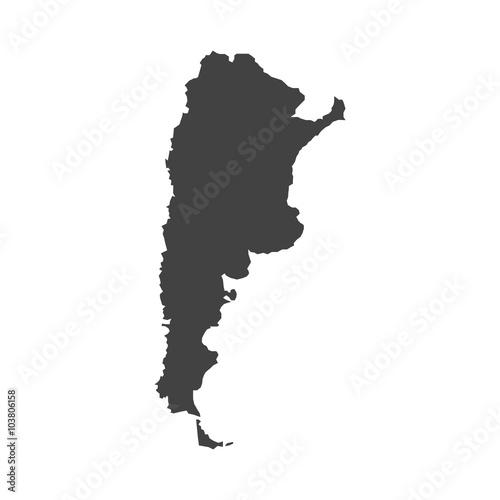 map of Argentina vector design Illustration Wall mural