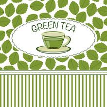 Menu Cover Template With Tea