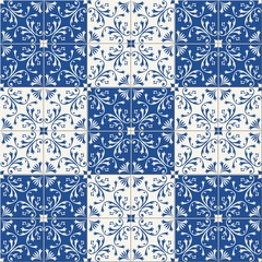 Fototapeta Seamless pattern . Turkish, Moroccan, Portuguese tiles, Azulejo, ornaments. Islamic Art.