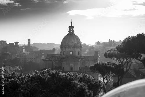 Photo  panoramic view from Altare della Patria of the Roman Forum.