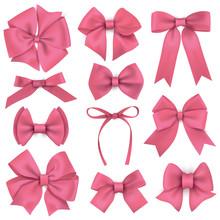 Big Set Of Realistic Pink Gift...