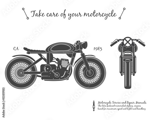 Canvas Print vintage motorcycle. cafe racer theme