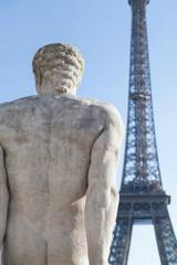 Fototapeta na wymiar Sculpture in Trocadero. Paris, France.