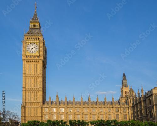 Fotografia  Big Ben Clock Tower and Houses of Parliament, Westminster, London