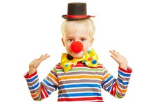 Kind Als Clown Macht Pantomime