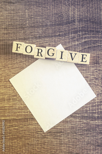 Fotografía  Forgiveness concept