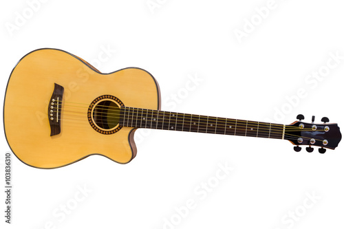 Acoustic Guitar Isolated On A White Background Buy This Stock