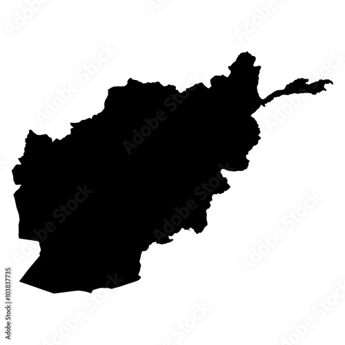 Canvas Print Afghanistan map on white background vector