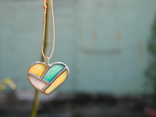 Stained Glass Of Heart-shaped ...