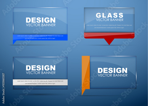 Fotografía  Glass banners with quote bubble