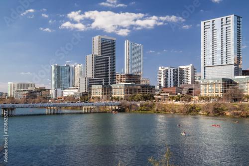 Panorama of Downtown Austin and Colorado  river © amadeustx