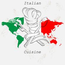 Вывеска, Обложка для меню. Логотип для ресторана итальянской кухни и пиццерии.