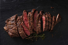 Grilled Flat Iron Steak Shot I...