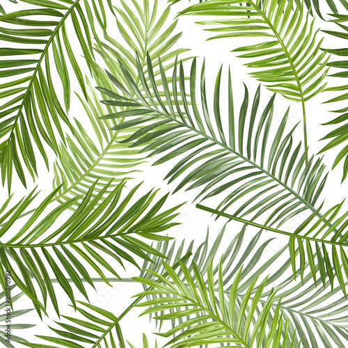 Ingelijste posters Tropische Bladeren Seamless Tropical Palm Leaves Background - for design, scrapbook