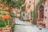 Fototapeta Na drzwi - Old town Tuscany Italy