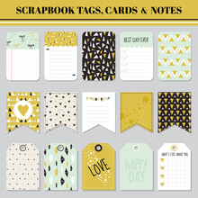 Scrapbook Tags, Cards And Note...
