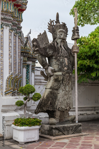 Statue at Wat Pho, Bangkok,  Thailand Wallpaper Mural