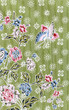 Printed fabrics butterfly and rose flower texture or background