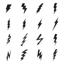 Lightning Bolt Icon. Vector Il...