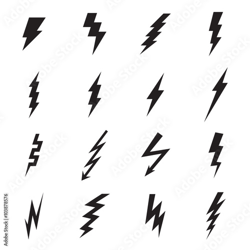 Lightning bolt icon. Vector illustration Fototapete