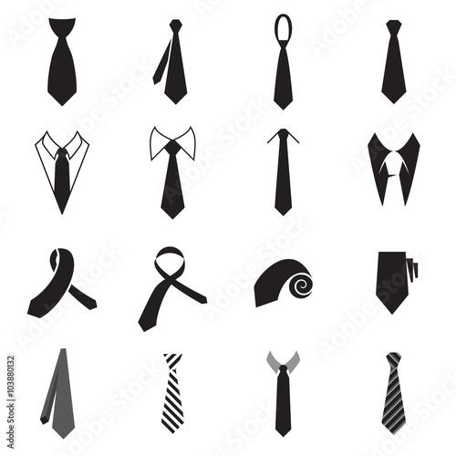 Fotografie, Obraz  Necktie icons