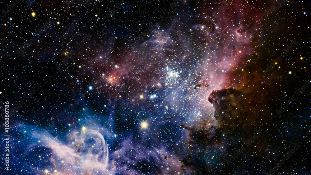 Fototapety, obrazy: Stars nebula in space. Elements of this image furnished by NASA