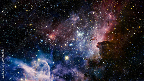 Stars nebula in space. Elements of this image furnished by NASA Принти на полотні