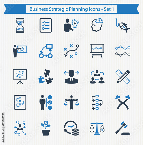 Business Strategic Planning Icons - Set 1 - Buy this stock ...