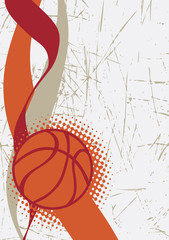 Fototapeta Koszykówka Vertical basketball poster.Abstract background