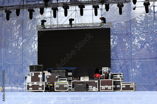 Fotografía  stage equipment for a concert