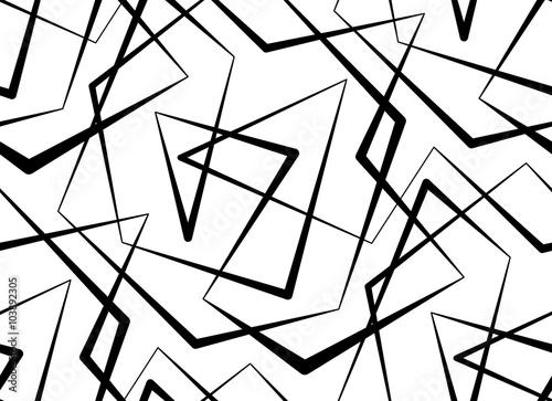 abstrakcjonistyczny-wektorowy-bezszwowy-bialy-tlo-czarne-linie