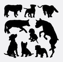Dog Pet Animal Silhouette 08. Good Use For Symbol, Logo, Web Icon, Mascot, Sign, Sticker Design, Or Any Design You Wany. Easy To Use.