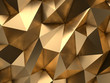 canvas print picture - Gold Abstract 3D-Render Background