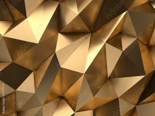 Fotografia  Gold Abstract 3D-Render Background